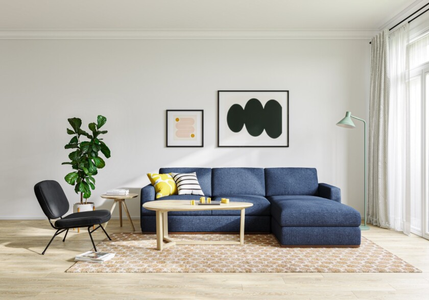 Furnishings from Oliver Space.