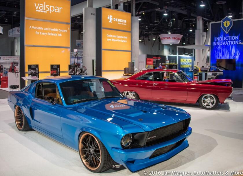 Beautiful custom cars on display
