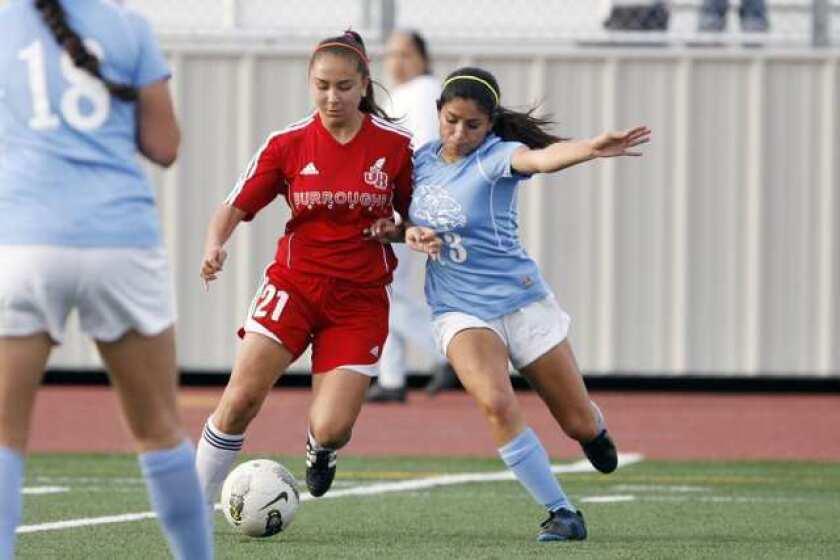 Crescenta Valley, Burroughs girls' soccer battle to tie