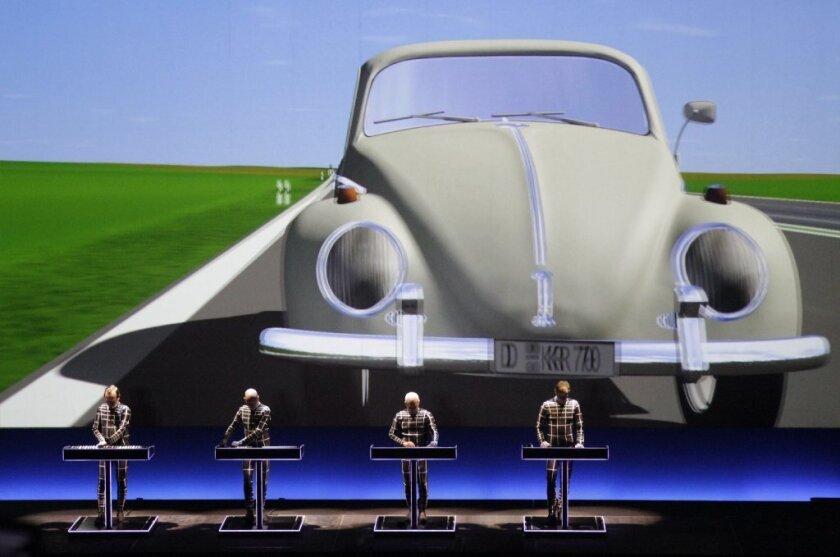 "Kraftwerk performs ""Autobahn"" at Walt Disney Concert Hall."