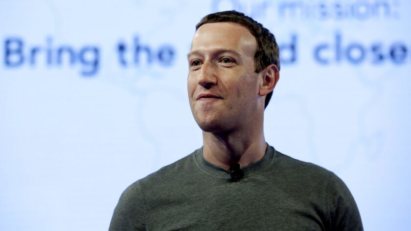 Facebook CEO Mark Zuckerberg in Chicago in June.
