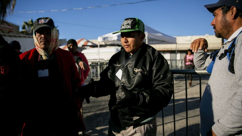Migrants who witnessed tear gas at the border