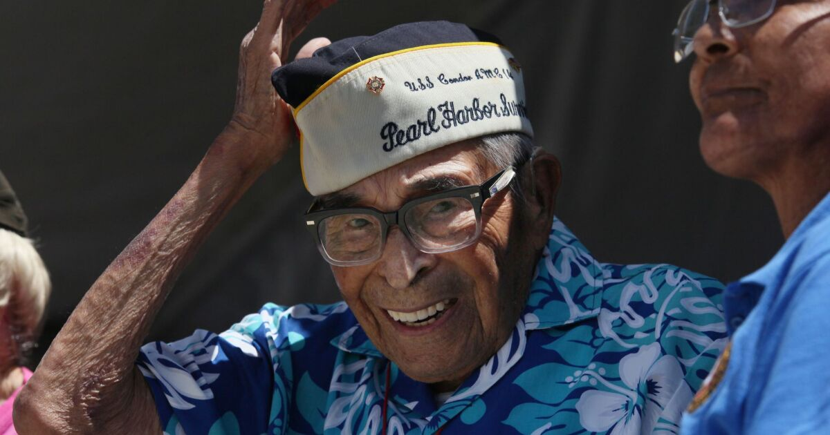 4eef8e266 San Diego veteran who was nation's oldest Pearl Harbor survivor has died at  106 - The San Diego Union-Tribune