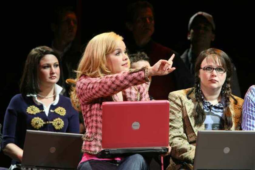 "Megan Lewis, Becky Gulsvig and Gretchen Burghart in the touring production of ""Legally Blonde"" that came to the Pantages Theatre in 2009."