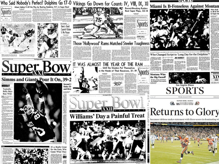 California Super Bowls on the front page