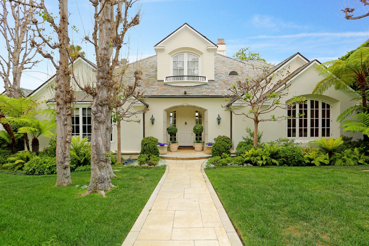 Melissa Rivers' East Coast-inspired Traditional home sits on about a third of an acre in Pacific Palisades. It's for sale at $6.25 million.