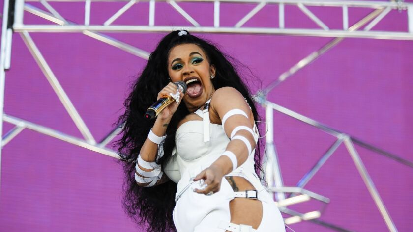 Cardi B performs at the Coachella Valley Music and Arts Festival in April 2018.