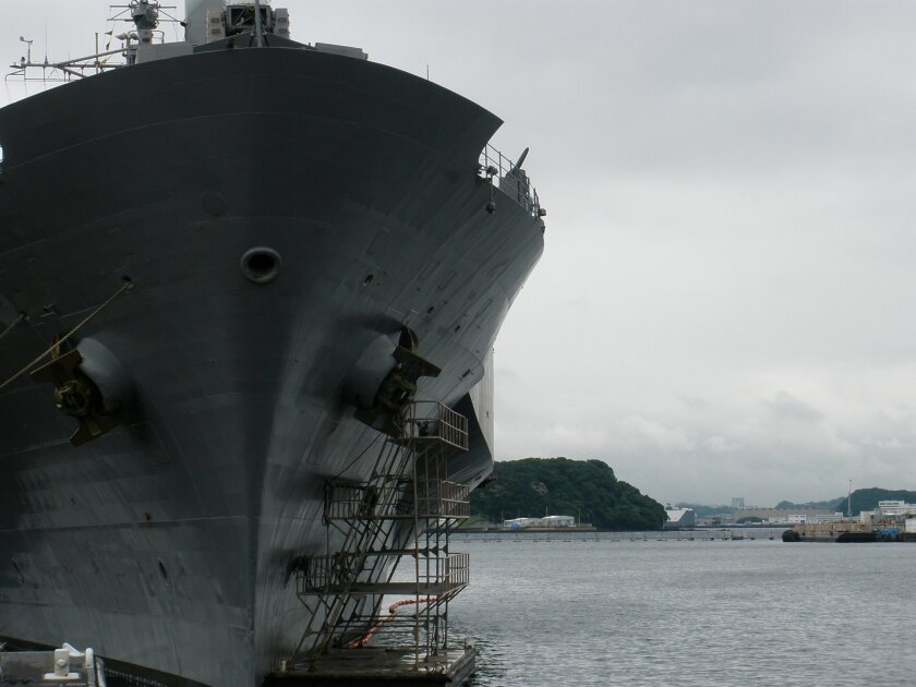 The command ship Blue Ridge contains the headquarters of the U.S. Navy's Seventh Fleet, based in Yokosuka, Japan.