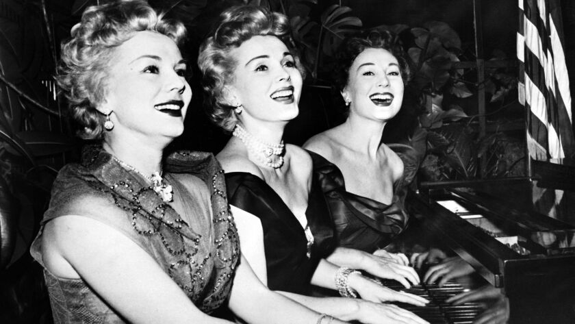Zsa Zsa Gabor, center, and sisters sisters Eva, left, and Magda were considered a precursor to the Kardashians.