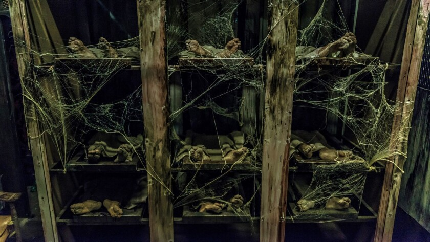 New for 2016, Fright Dome features an abandoned hospital where the dearly departed haunt the basement morgue.