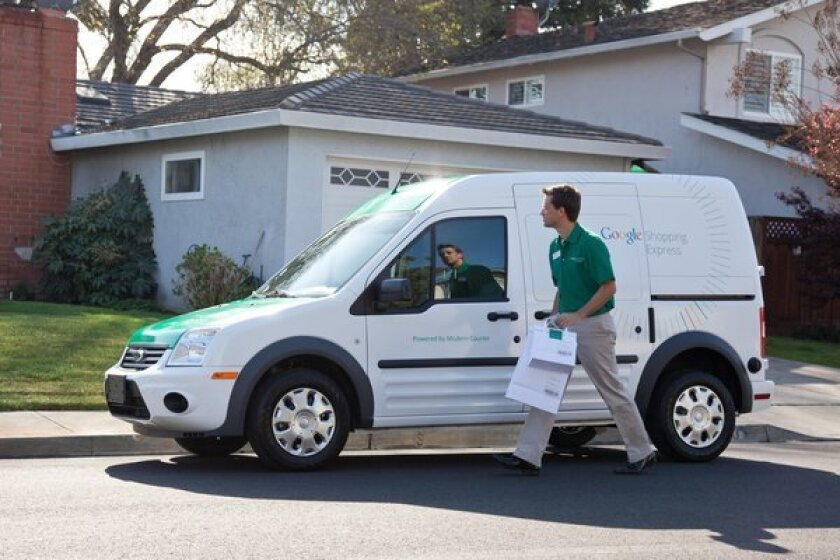 Google started an experimental same-day delivery service Thursday called Google Shopping Express.