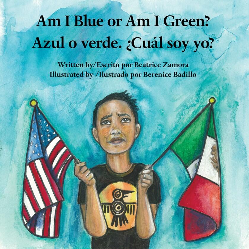 Portada del libro Azul o verde ¿Cuál soy yo?, de Beatriz Zamora. Ilustración de Berenice Badillo.
