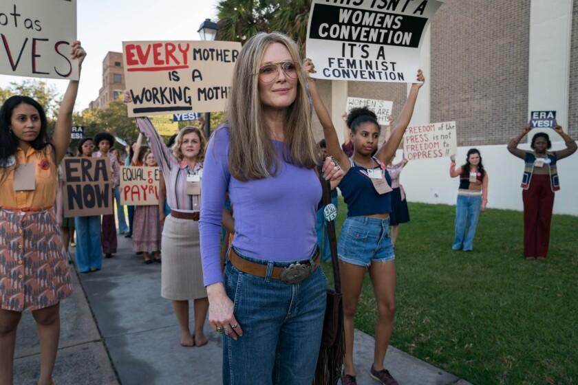 """Julianne Moore as Gloria Steinem in """"The Glorias."""""""