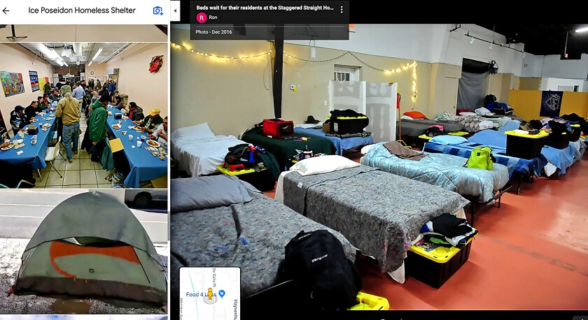 """Screenshot from Google Maps of the nonexistent """"Ice Poseidon Homeless Shelter,"""" before the listing was taken down."""