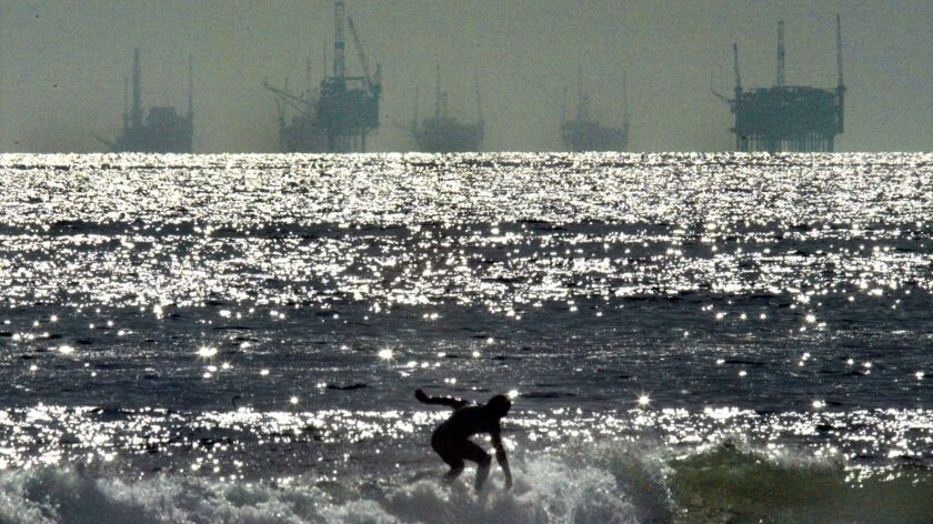 Ho, Lawrence K. –– – 096410.FI.0421.DRILL.2.LKH Oil platforms off the Southern California Coast in t