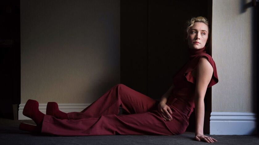 """Saoirse Ronan, seen here at West Hollywood's London hotel in November, stars in awards contender """"Lady Bird."""""""