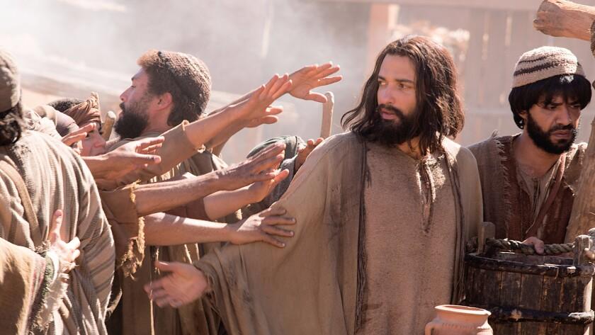 "Lebanese American Haaz Sleiman as Jesus of Nazareth in National Geographic Channel's ""Killing Jesus."""