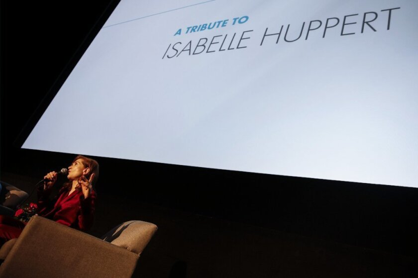 Isabelle Huppert received a tribute at AFI Fest.