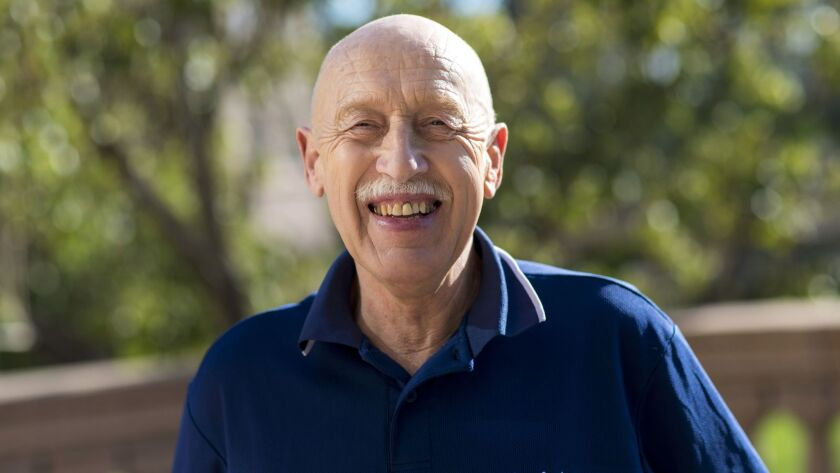 """Veterinarian Jan Pol, the star of Nat Geo Wild's reality TV show """"The Incredible Dr. Pol,"""" is shown at the Television Critics Assn. press tour in January."""