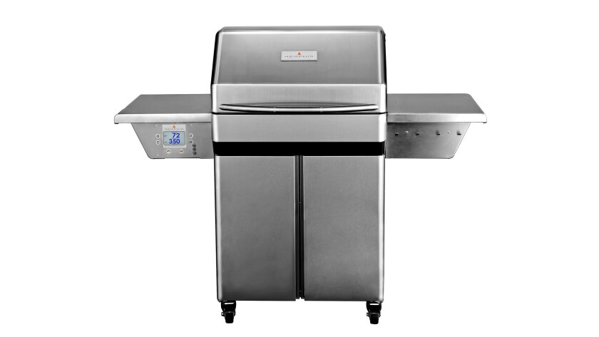 Memphis Pro Wi-Fi-compatible wood-fired grill, $3,299, available at Outdoor Elegance.