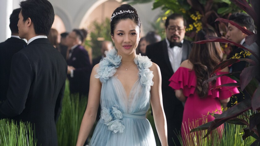 """Golden Globe nominee Constance Wu in the movie """"Crazy Rich Asians."""""""