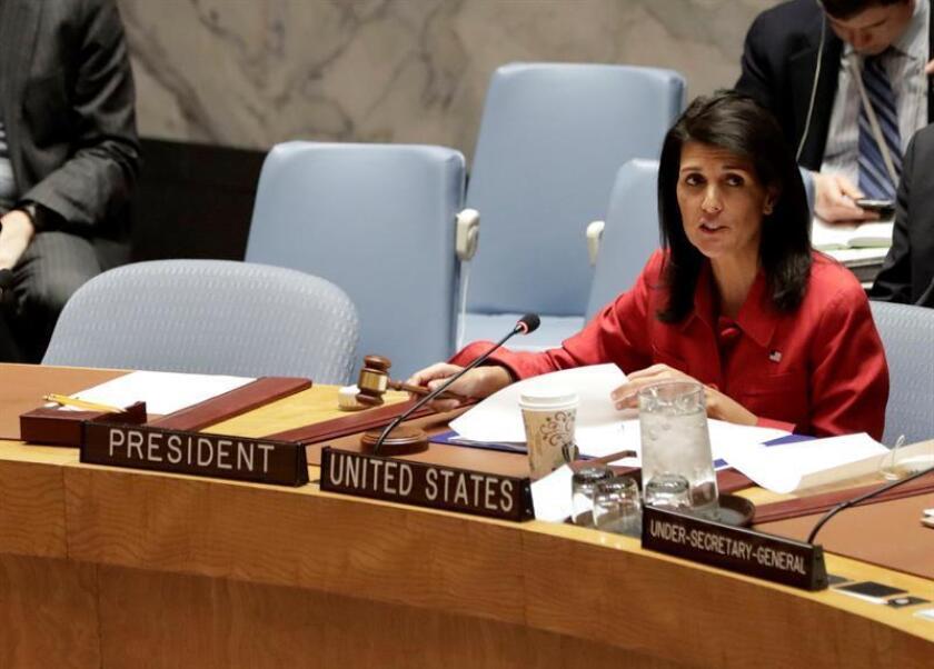 La embajadora estadounidense ante la ONU, Nikki Haley. EFE/Archivo