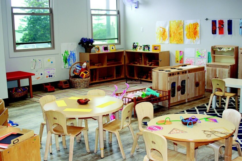 Redesigned classrooms, complete with new furnishings, are part of the La Jolla Presbyterian Church preschool renovation.