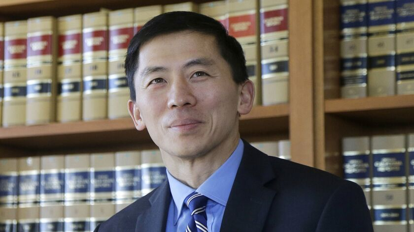 California Supreme Court Associate Justice Goodwin Liu, shown in 2017, argued in a decision Thursday that the state's death penalty system is dysfunctional, expensive and doesn't deliver justice in a timely way.