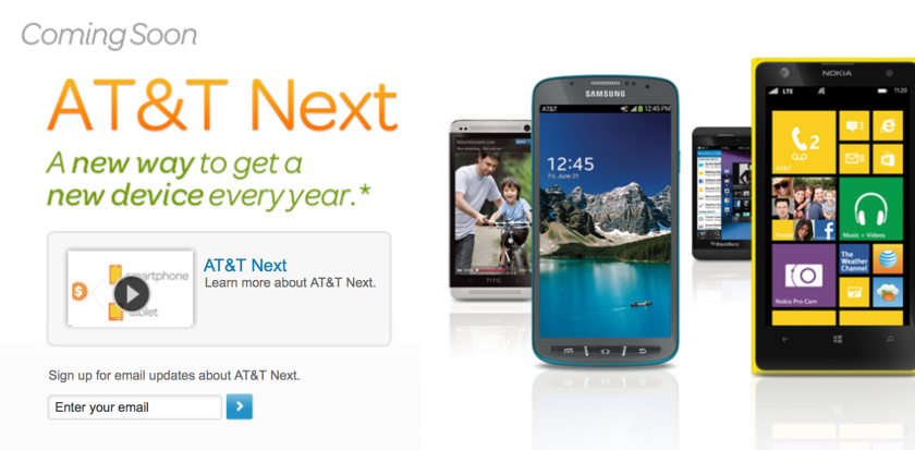 New AT&T plan to allow customers phone upgrades once a year