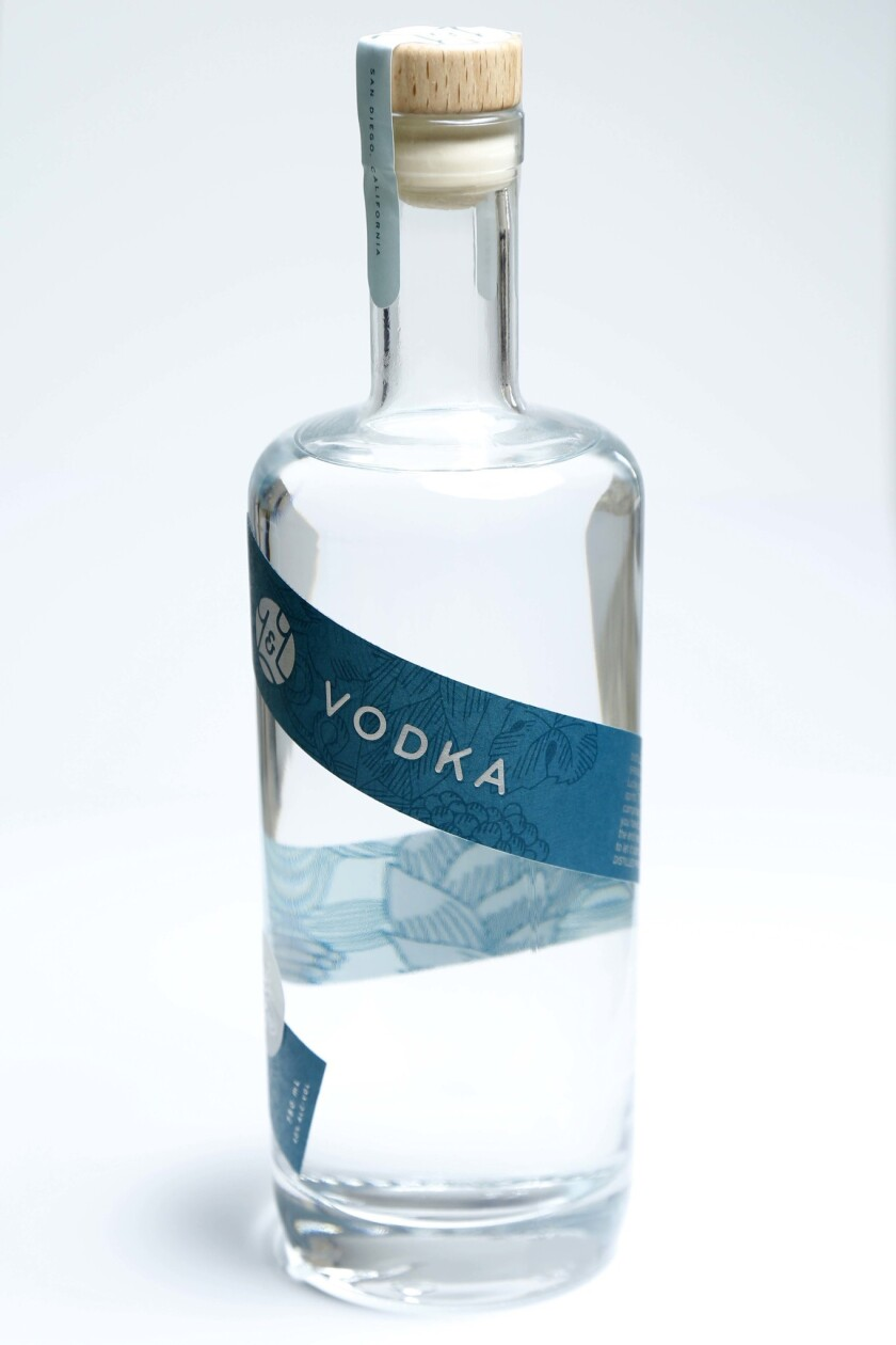 You and Yours Vodka, part of Efren Agustin's collection of cocktail ingredients.