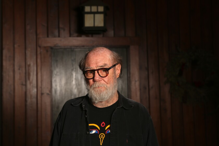 Artists Paul McCarthy stands inside his Altadena home in late May.