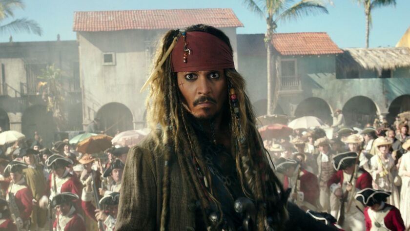 """Johnny Depp as Capt. Jack Sparrow in """"Pirates of the Caribbean: Dead Men Tell No Tales."""""""