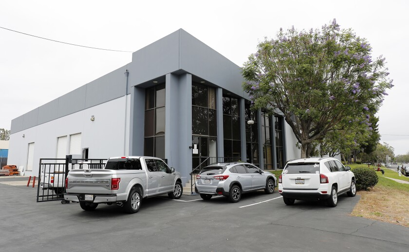 A warehouse building at 3175 Airway Ave. in Costa Mesa will accommodate a 70-bed homeless shelter for both cities.