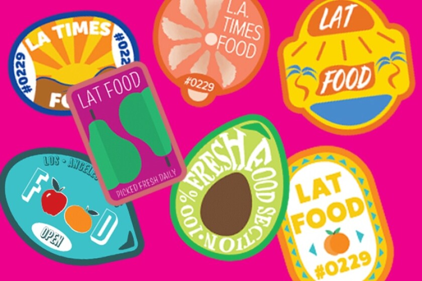 These fun faux produce stickers decorate the printable shopping list below.