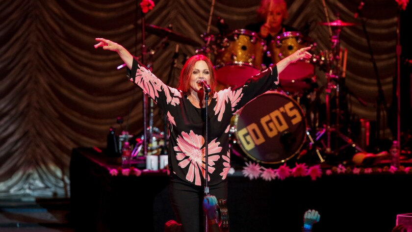 Belinda Carlisle of the Go-Go's. The band's 2020 reunion tour has been postponed because of the coronavirus pandemic.