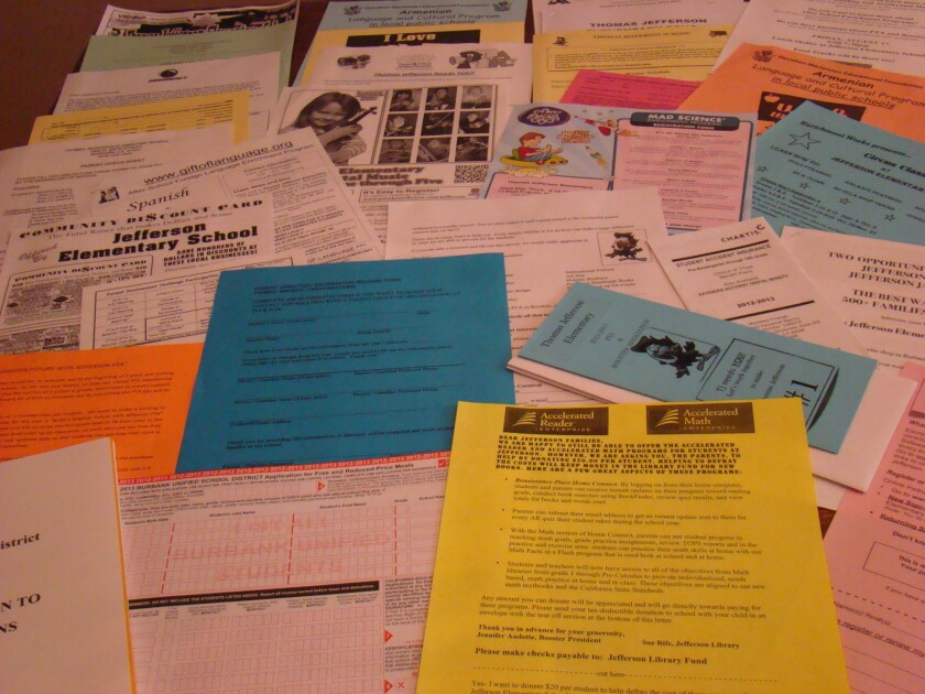 The Crosby Chronicles: Burbank Unified's bulging parent packet