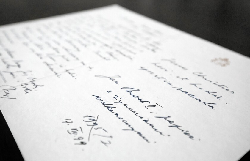 Pope John Paul II letter to Anna-Teresa Tymieniecka