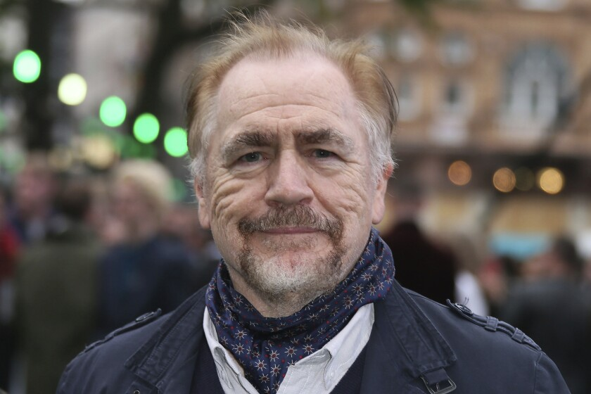 """FILE - In this May 4, 2017 file photo, actor Brian Cox poses for photographers at the premiere of the film """"Alien Covenant"""" in London. Cox recently filmed """"Little Room,"""" a """"whodunnit"""" for the Zoom age. The story centers around a psychiatrist who goes missing and her patients connect online to try to track her down. Donations are being accepted to watch the first episode of """"Little Room,"""" available now, with proceeds going to help frontline workers in the U.S. and the U.K. (Photo by Joel Ryan/Invision/AP, File)"""