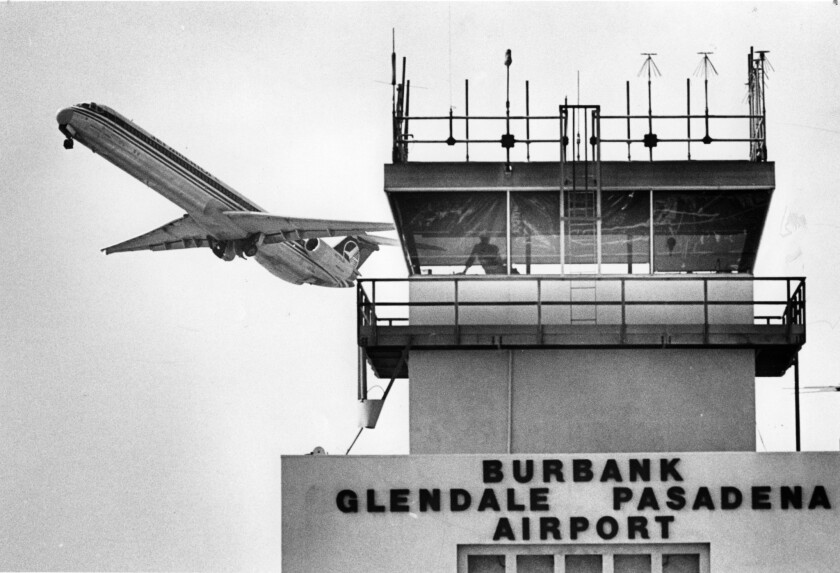 In 1986, the Burbank airfield was known as Burbank Glendale Pasadena Airport.