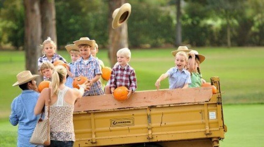 Children enjoy the hayride. Photo/Jon Clark