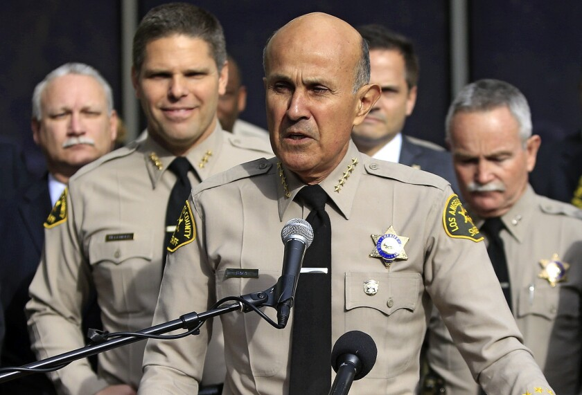 Lee Baca announced his retirement as Los Angeles County sheriff in January 2014.
