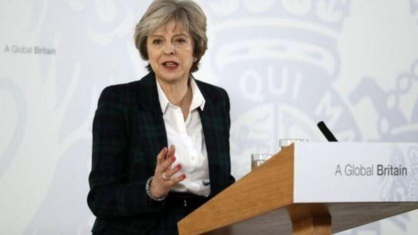 La primera ministra británica, Theresa May, expuso sus planes para la salida de Reino Unido de la Unión Europea.