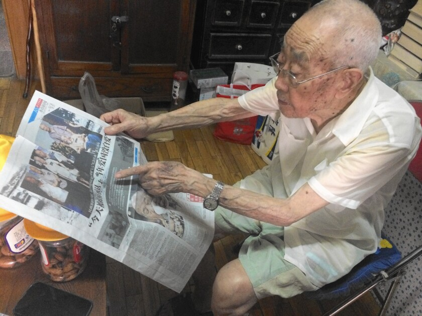 Sun Yinbai, 97, served with the Nationalist army in World War II, acting as an interpreter for U.S. forces. Only now are such service members getting some grudging acknowledgment from China's leaders.