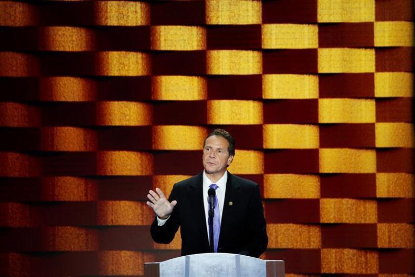 El gobernador de Nueva York Andrew Cuomo durante una conferencia de prensa. EFE/Archivo