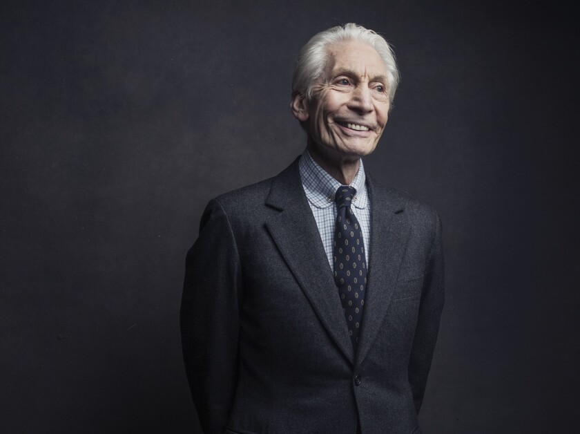 Charlie Watts of the Rolling Stones poses for a portrait on Nov. 14, 2016
