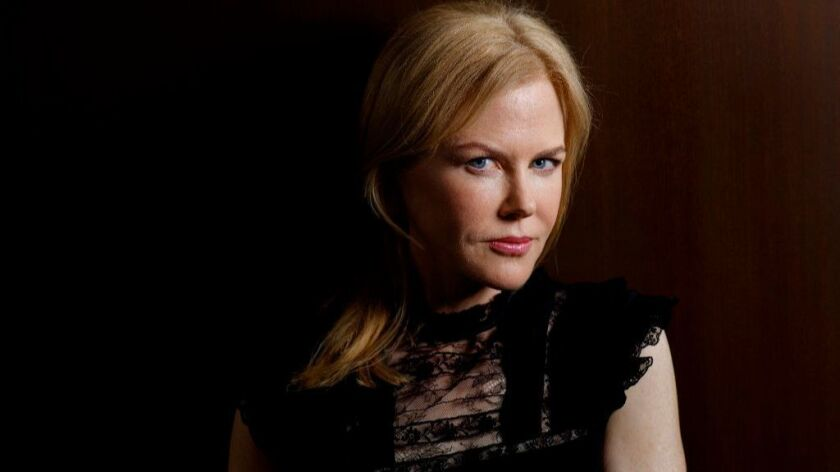 "Nicole Kidman, nominated for her lead turn in ""Big Little Lies."""