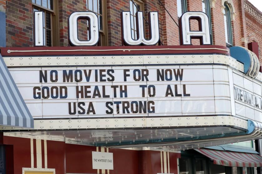US Virus Outbreak Iowa Daily Life