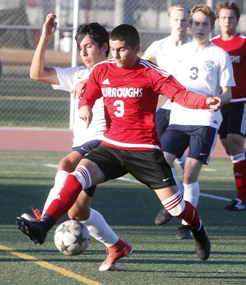 Photo Gallery: Burroughs vs. Crescenta Valley in Pacific League boys' soccer