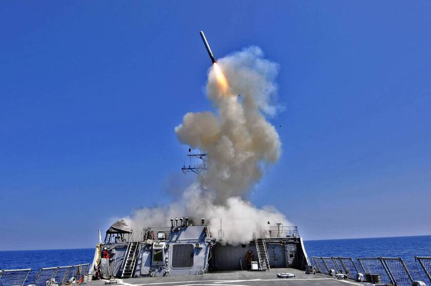 U.S. would rely on missiles in a strike on Syria