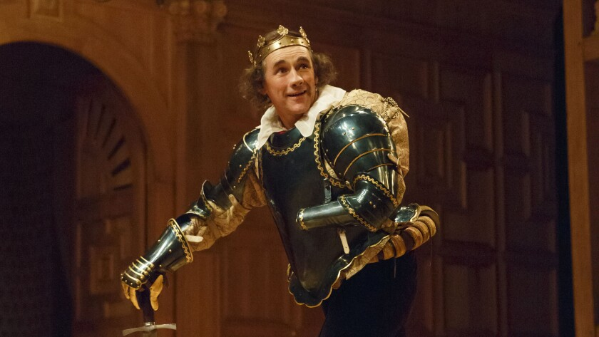 "Mark Rylance, shown as Richard III in the Shakespeare Globe production at New York's Belasco Theatre, will play Thomas Cromwell in ""Wolf Hall."""